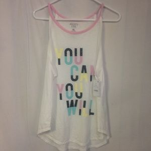 mighty fine tank top you can you will NWT